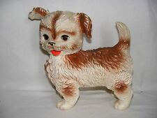 "Vintage 1960's Rubber Squeeky Dog Toy Edward Mobley Co. 9.75"" Tall x 11"" x 5"""