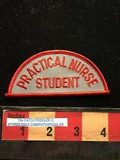 Vtg Medical Patch PRACTICAL NURSE STUDENT Red Trim  64J2