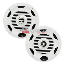"MTX Audio WET77-W 7.7"" WET 2-Way Coaxial Marine Audio Speakers White 150W New"