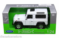 WELLEY LAND ROVER RANGE DEFENDER WHITE 1/24 NEW IN BOX DIECAST CAR 22498W-WH