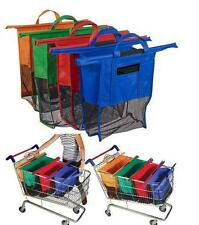 4pcs a set of  Bags Reusable Grocery Cart Shopping Trolley Bags 4 colors