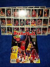 1990-91 BASKETBALL PANINI STICKER ALBUM & 180 STICKERS-PREMIERE EDITION (M1227)