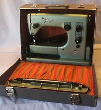 Vintage 60s Industrial VIKING HUSQVARNA ZIG-ZAG 19E Sewing Machine + Carry Case