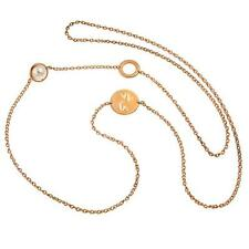 New Rebecca Cultured Pearl Signature Coin Necklace