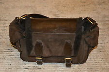 Yves Saint Laurent Brown Sheepskin Lambswool Womens Tote Shoulder Handbag