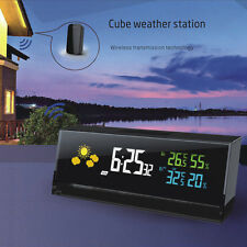 Wireless Weather Station Report Clock Barometer Digital Thermometer Hygrometer