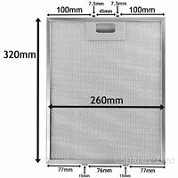 Metal Mesh filter For HOTPOINT Cooker Hood Extractor Vent Fan 320 x 260 mm