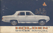 HOLDEN OWNERS MANUAL PART No.7429279, APRIL 1965.