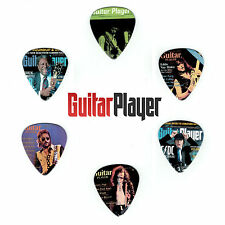 6 Pack GUITAR PLAYER MAGAZINE ROCK BLUES JAZZ Medium Gauge 351 Picks Plectrum