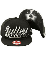 Sullen Clothing Dark Gray Snapback Cap Hat Black Skull Tattoo New Era 9Fifty