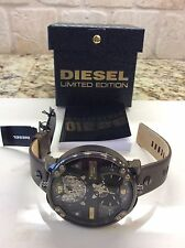 NEW DIESEL DOUBLE TIME DZ7365 AUTOMATIC LIMITED  ED. HUGE 62x70mm WATCH NIB $795