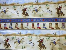 COWBOYS Fabric Fat Quarter Cotton Craft Quilting - RODEO ROUND UP - Boys