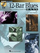 Dave Rubin 12-Bar Blues Complete Guide to Bass Learn Play Guitar Music Book & CD