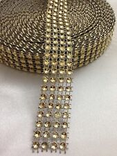 WEDDING CAKE DECORATING TRIM DIAMONTE SPARKLY  RIBBON BRIDAL EFFECT 3Yards Gold