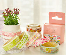 10X Colorful Glue Tapes Paper Sticky Adhesive Sticker Decorative Washi Gift DIY