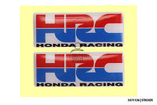 2 x HRC honda racing decal/sticker for motorbike/scooter * domed gel
