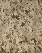 "RARE! AOR1 500D CAMOUFLAGE CORDURA Fabric 60"" Wide DWR Treated IR"