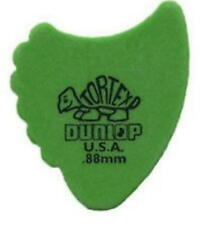 DUNLOP GUITAR PICKS ~TORTEX FINS- (6) ALL GREEN .88