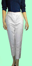 ANNE KLEIN White Solid Slim Bottoms Women's Size 2 Capri Cropped Pants Msrp $99