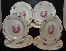 "Sarreguemines Corot Set of 8 Luncheon Plates 8 3/4"" Quimper"