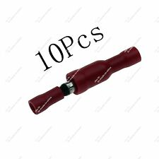 10pcs Full Insulated 4mm Female Male Bullet Connector Crimp Terminals 22-16AWG