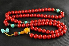 china tibet tibetan Red Bodhi buddhist buddha worry prayer bead mala bracelet