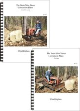 BRUTE MINI DOZER  CONVERSION PLANS  for 8-28hp Garden tractors!