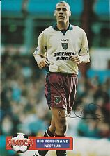 RIO FERDINAND WEST HAM UTD 1996-2000 ORIGINAL HAND SIGNED MAGAZINE CUTTING