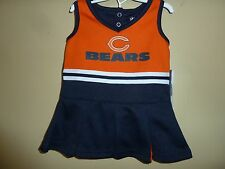 NEW~NFL Team Apparel~CHICAGO BEARS~Girl 12M~Navy/Orange~2 Pc CHEERLEADING OUTFIT