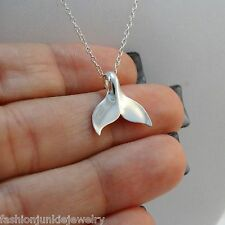 Whale Tail Necklace - 925 Sterling Silver - Whale Tail Charm *NEW* Nautical