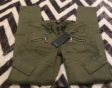 NWT Guess Jeans Skinny Ultra Low Olive Green Elise Pants Size 26