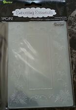 "DARICE EMBOSSING FOLDER- TREE WITH PINECONE - NIP - 4.25"" X 5.75""-1215-66 BORDER"