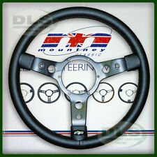 "LAND ROVER SERIES 3 - 14"" Mountney Black Vinyl Steering Wheel (43SBVB)"