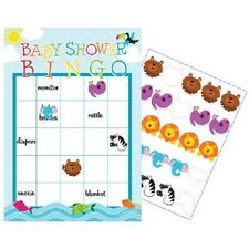 Girl / Boy Baby Shower Party Supplies NOAH'S ARK BINGO GAME, Cards & Stickers