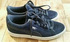 Mens Ladies Trainers PUMA Suede, BLUE, Size 4 UK, 37 EUR, US 5, Unisex, Genuine