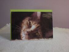 For Arts Sake - Friendship card - Cats face on cover