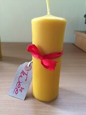 Large molded Church candle 100% pure beeswax handmade 14.5 x 6cm- Christmas Twee