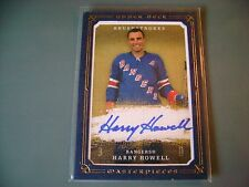 08/09 HARRY HOWELL UD MASTERPIECE BLUE BOARDER AUTO AUTOGRAPH SIGNED CARD #13/25