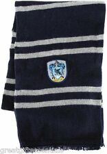 HARRY POTTER *LICENSED* Ravenclaw House *REAL* LAMBS WOOL SCARF w/ CREST NEW!