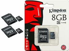 KINGSTON 8GB MICRO SD SDHC TF FLASH MEMORY CARD ADAPTER WHOLESALE  LOT OF 2