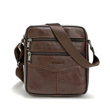 Vintage Men Genuine Leather Shoulder Bag Crossbody Small Satchel Messenger Trip