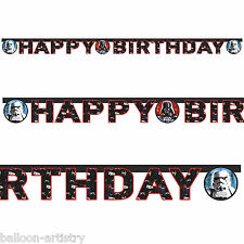 2m Star Wars Heroes & Villains Happy Birthday Party Letter Banner Decoration