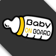 3M Reflective Baby On Board Feeder Car Sticker Decal 01476 12x8cm