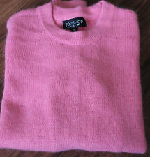 TOPSHOP women's sweater Angora Rabbit Hair and Wool blend Pink color Size 2 NEW