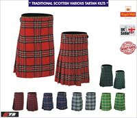 Mens 5 Yard Party Casual Acrylic Wool Highland Traditional Scottish Kilt Kilts