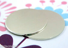 """Sterling Silver Discs, 2x Circle Hand Stamping Blanks ,925 13/16"""" 18 gauge"""