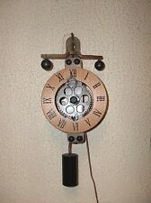 New Floor Model  Weight Driven Skeleton Wall Clock (New No Box)
