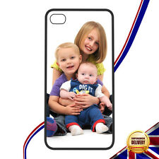 Personalised  iPhone 4/4s  5/5s  6/6Plus Your Photo On Rubber Protective Case