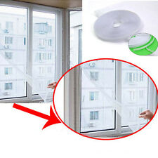WHITE WINDOW INSECT FLY MOSQUITO SCREEN MESH NET CURTAIN VELCRO
