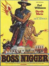 BOSS NIGGER Movie Promo POSTER Foreign Fred Williamson D'Urville Martin